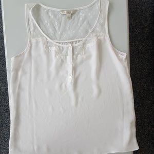Small Lauren Conrad white lace top